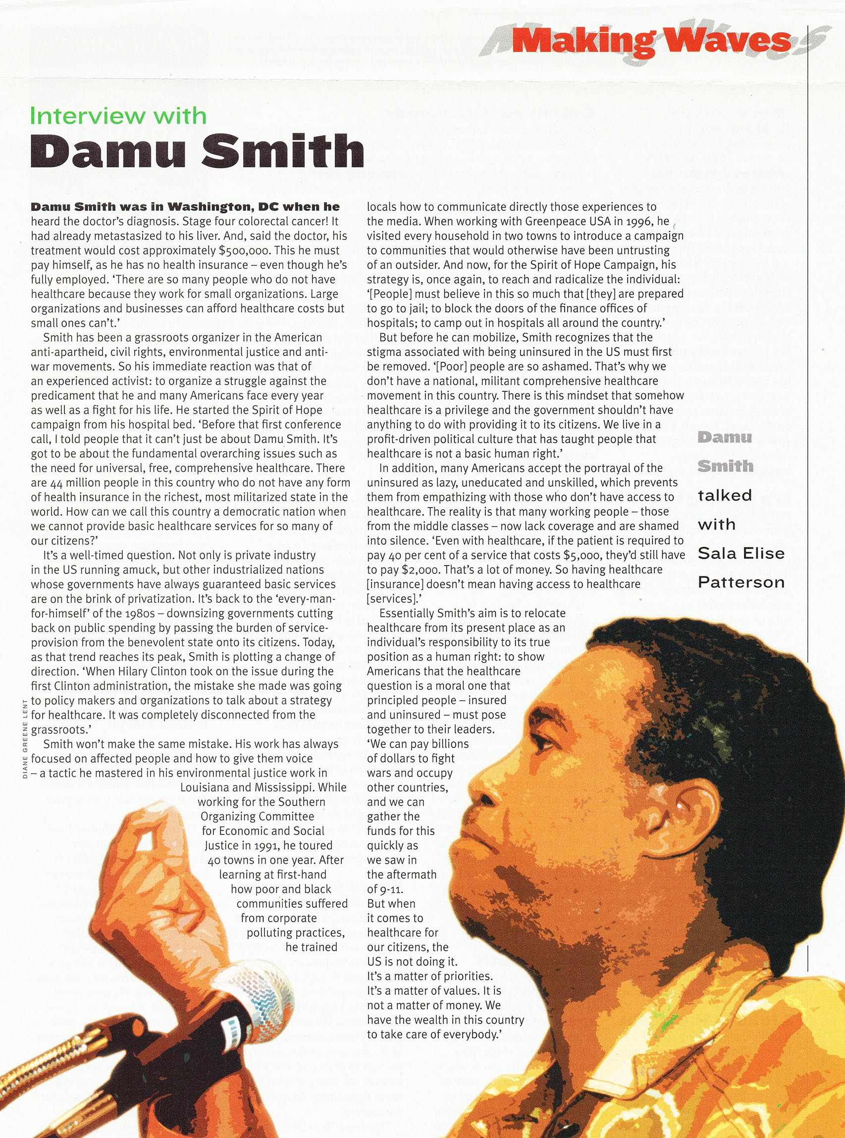 Damu Smith, social activist, for New Internationalist