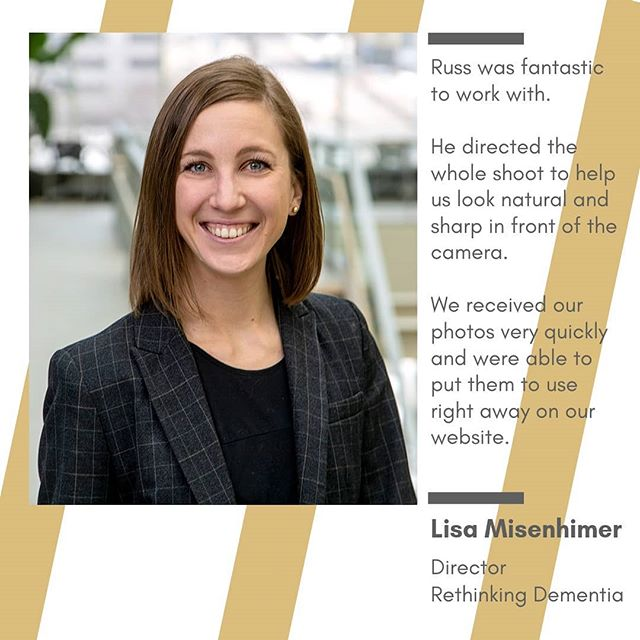 Many thanks to @lisamisenhimer for the kind words after working with her team at #AlzheimersAlliance and @msucollegeofhumanmedicine. . I'm glad to know clients use our work to make their jobs easier.