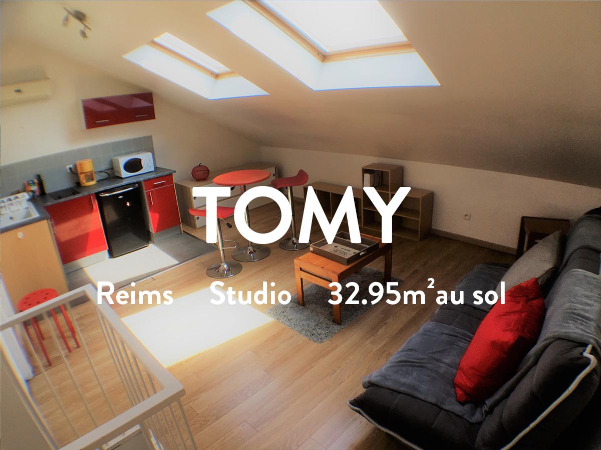 TOMY - Studio meublé  390€ + 15€ de charges
