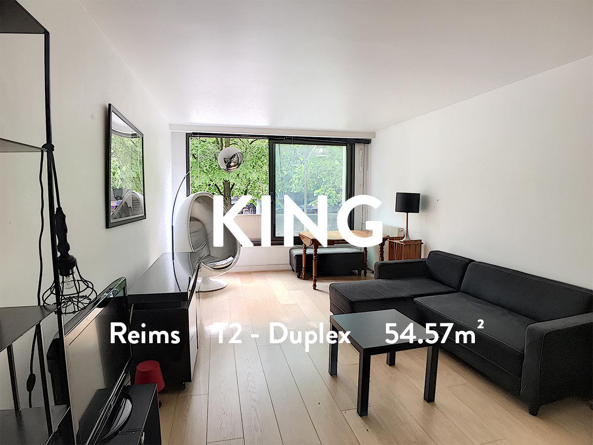 KING - T2 - HYPER CENTRE  660€+130€ de charges (chauffage inclus)