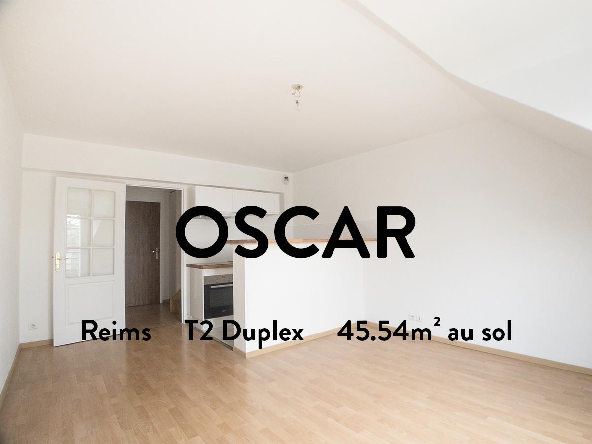 OSCAR - T2 en duplex - CLAIRMARAIS  500€ + 42€ de charges