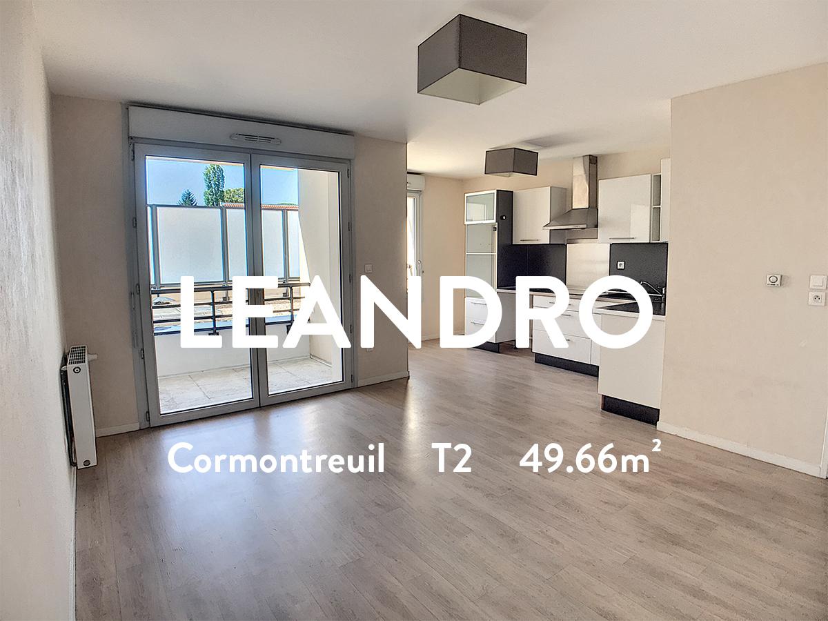 LEANDRO - T2 - CORMONTREUIL  515€ + 75€ de charges (chauffage inclus)
