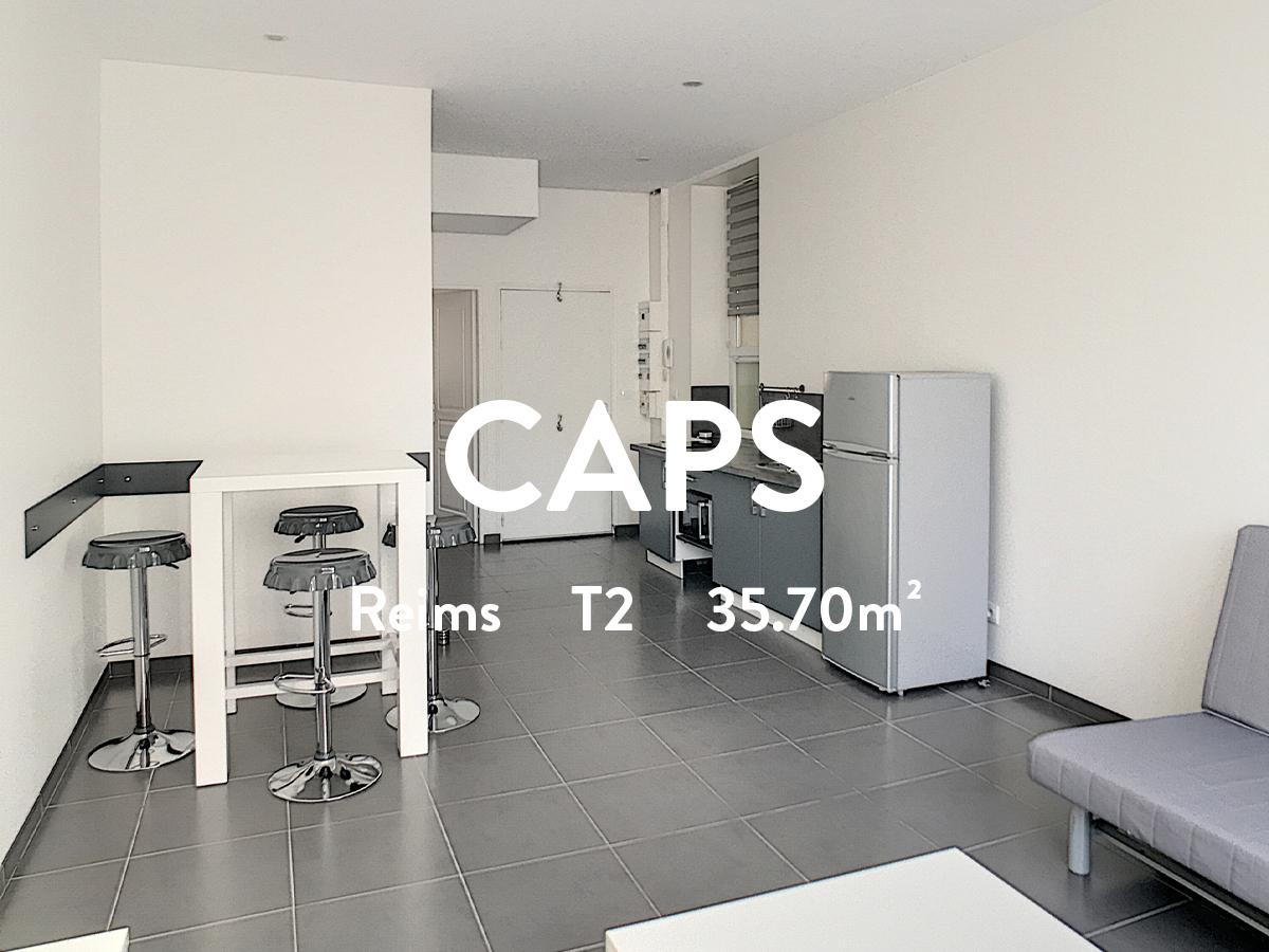 CAPS - T2 Meublé - Clairmarais  538€ + 12€ de charges