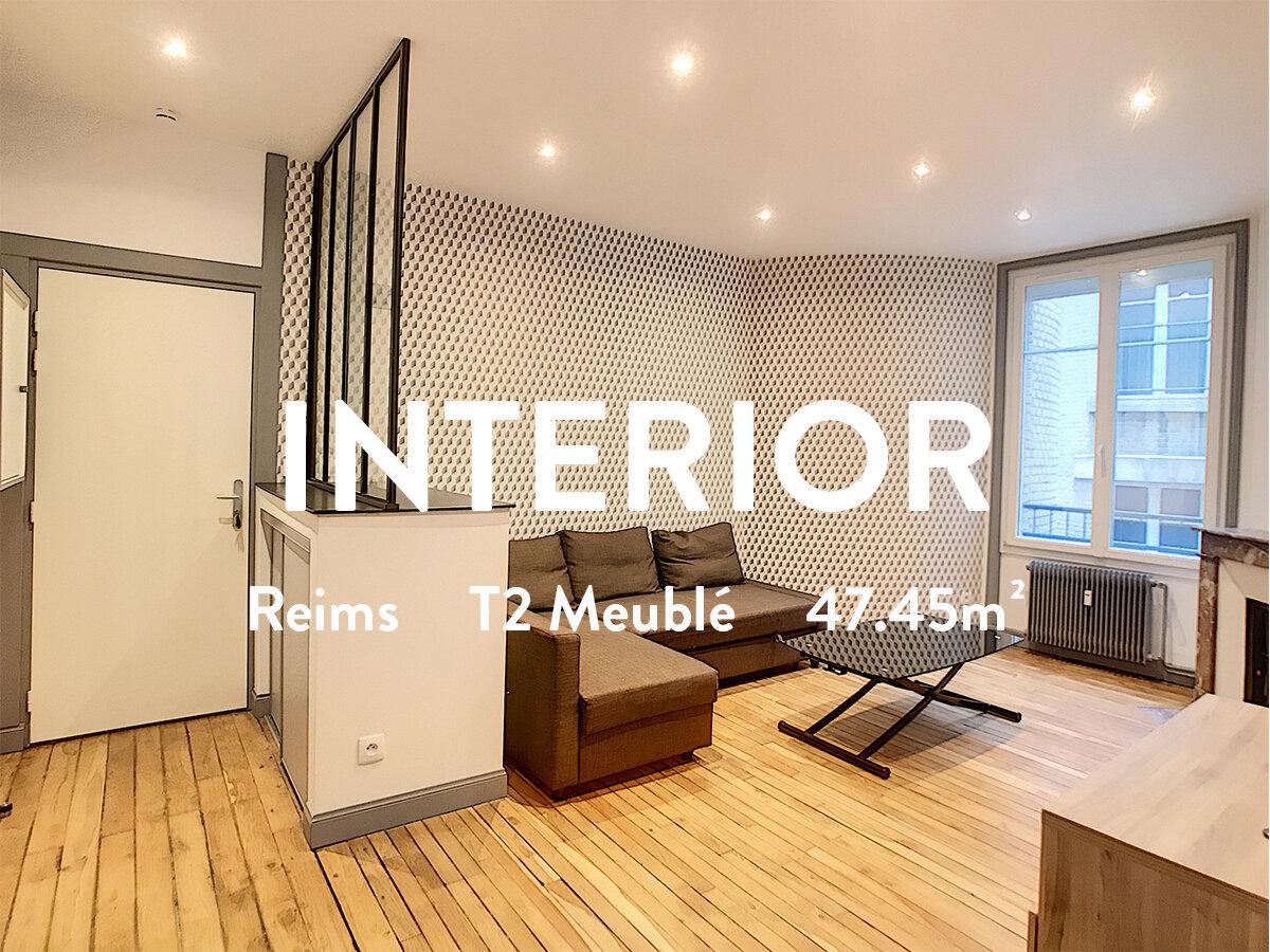 INTERIOR-T2 MEUBLÉ-PAIX/MOISSONS  580€ + 82€ / Mois (Chauffage inclus)