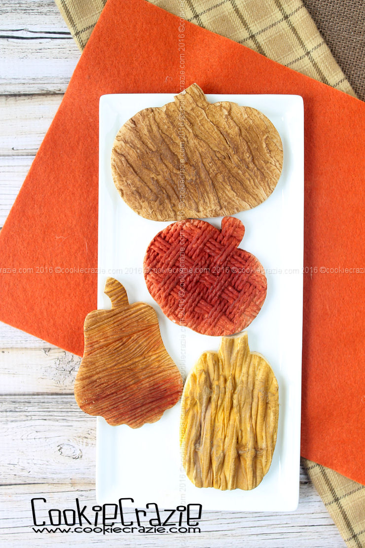 Textured Pumpkin Decorated Cookies (Tutorial)