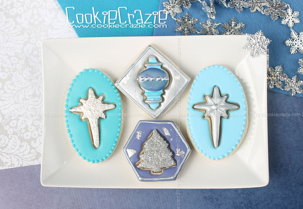 Framed 3D Christmas Shape Decorated Cookies (Tutorial)
