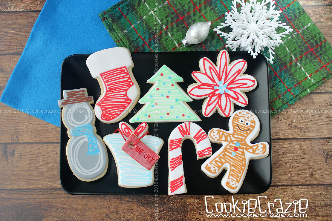 Christmas Scribbled Decorated Cookies (Tutorial)