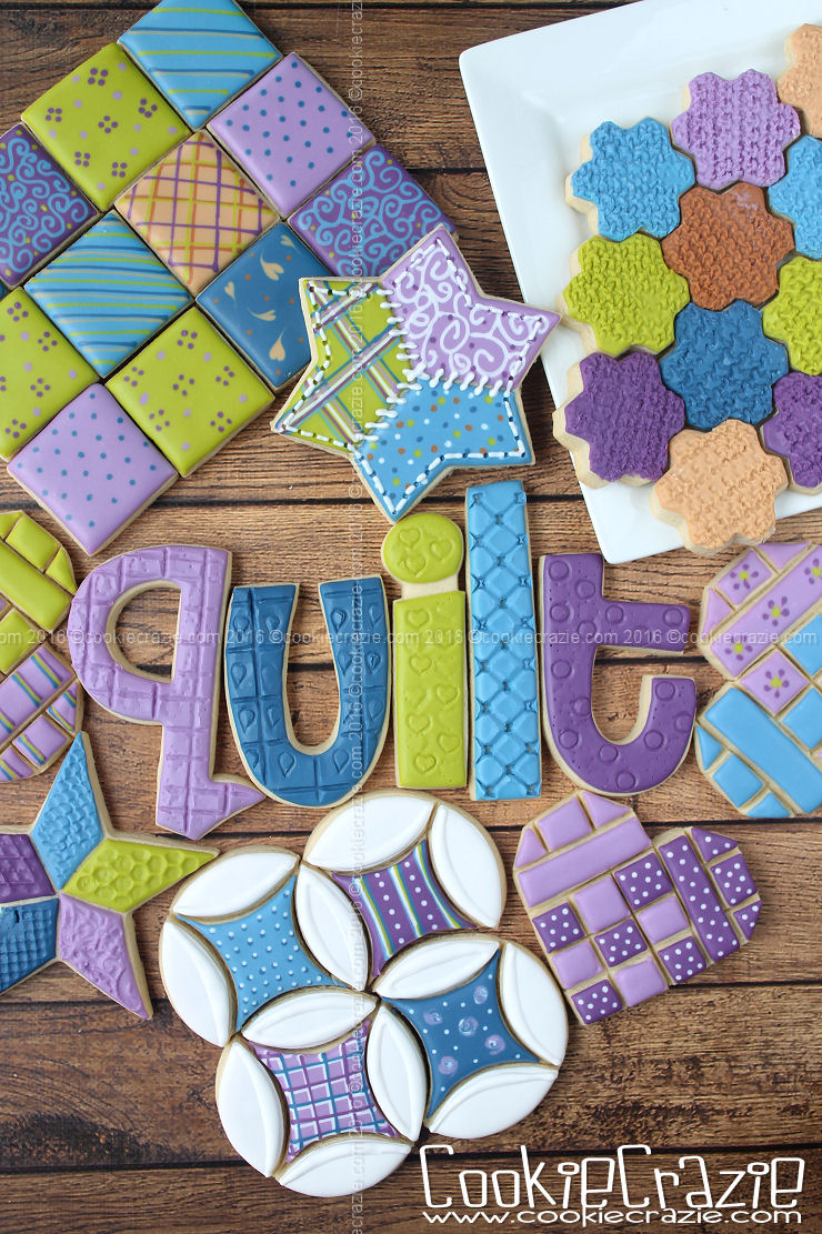 2016 Quilt Decorated Cookie Collection