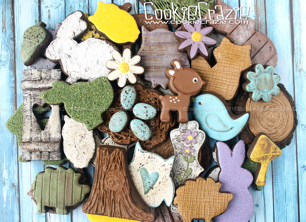 Spring Woodland Decorated Cookie Collection