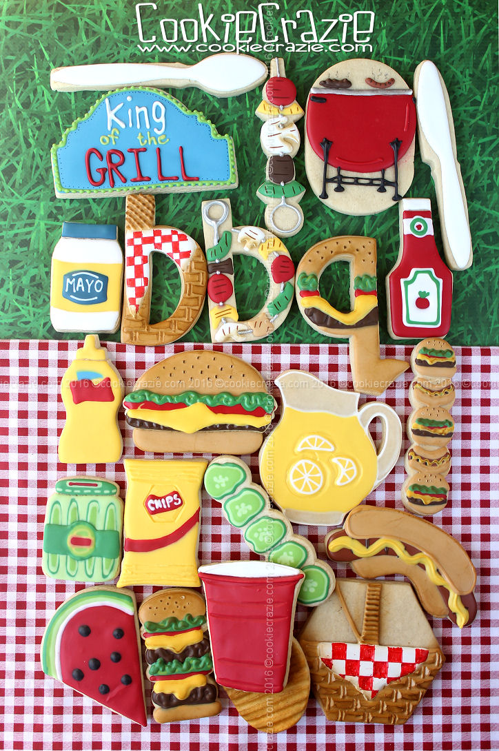 King of the Grill BBQ Decorated Cookie Collection - Fathers Day 2016