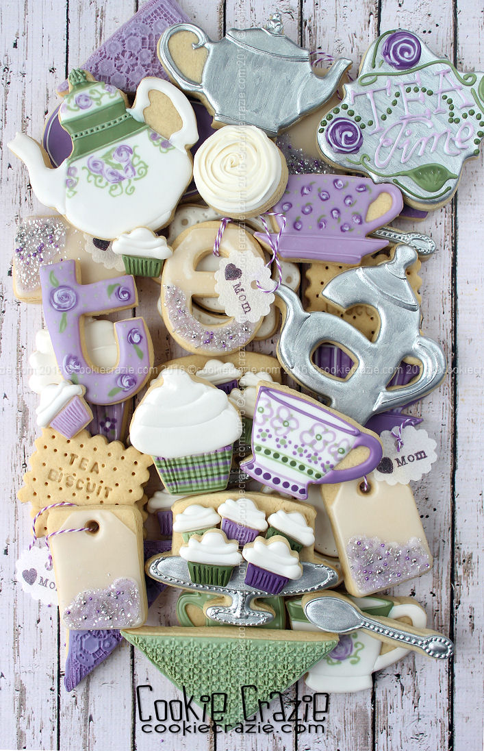 Tea Time for Mom Decorated Cookie Collection