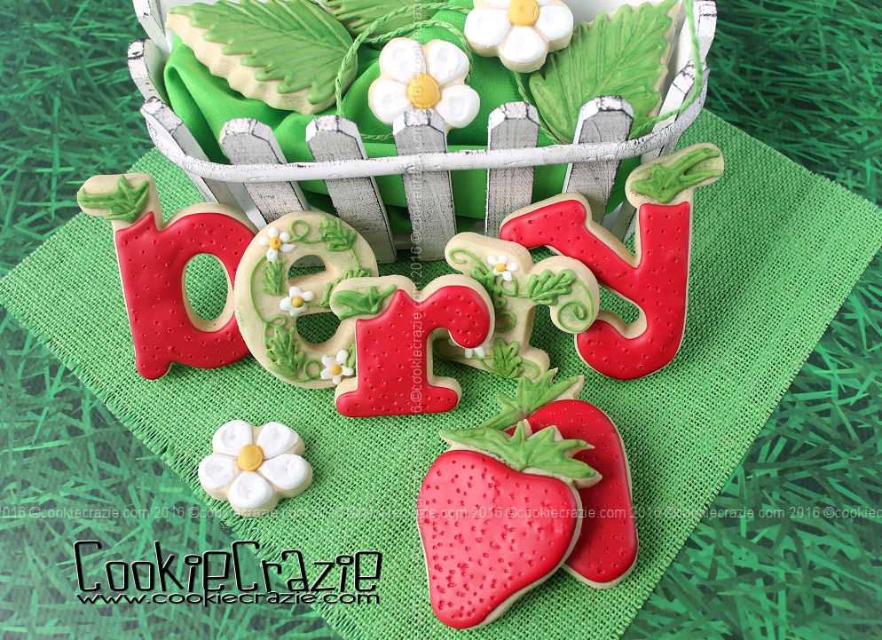 Strawberry Decorated Sugar Cookie Collection