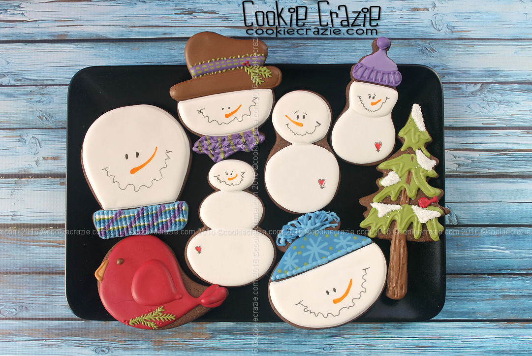 Snowmen Cookies from SugarBelle Cutters