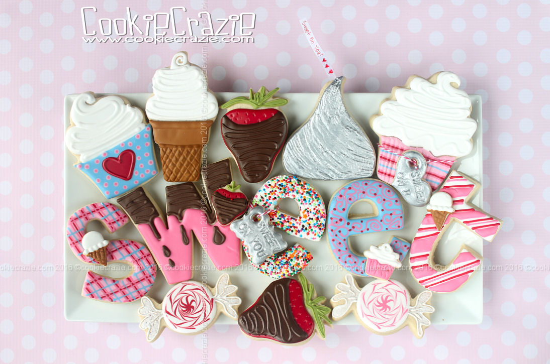 Sweet on You Valentines Decorated Cookie Collection