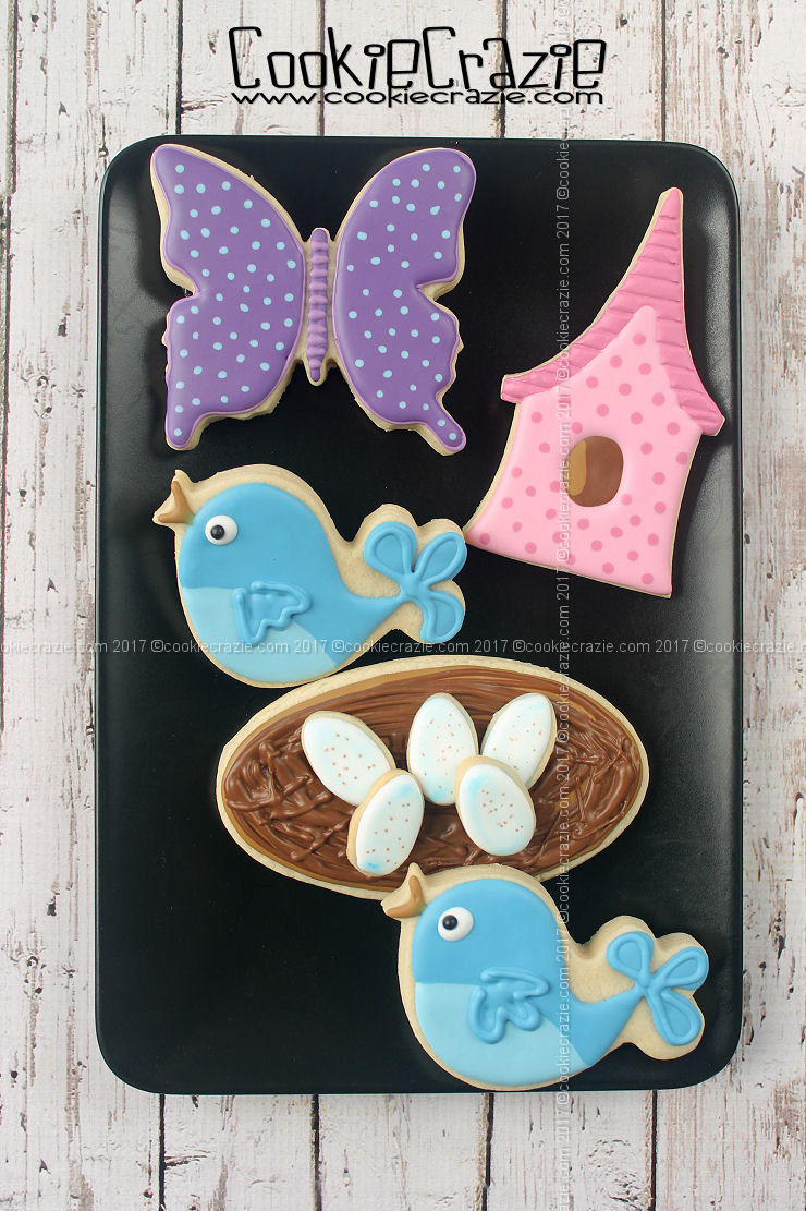 Bird Egg Decorated Cookies (Tutorial)