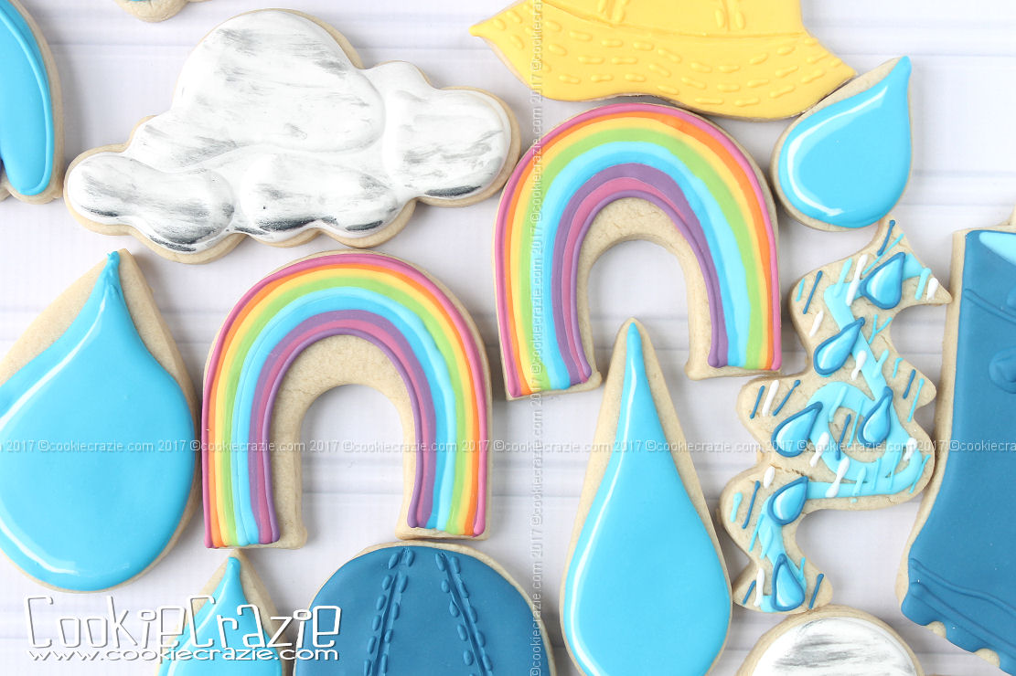 Rainbow Decorated Cookie (Tutorial)