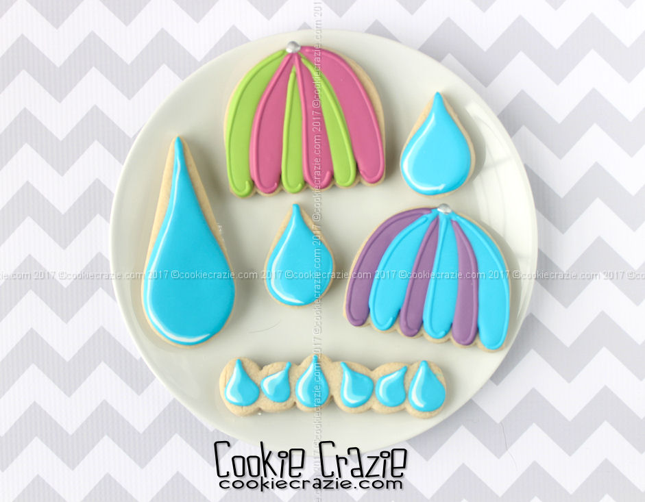 Umbrella Decorated Cookie (Tutorial)