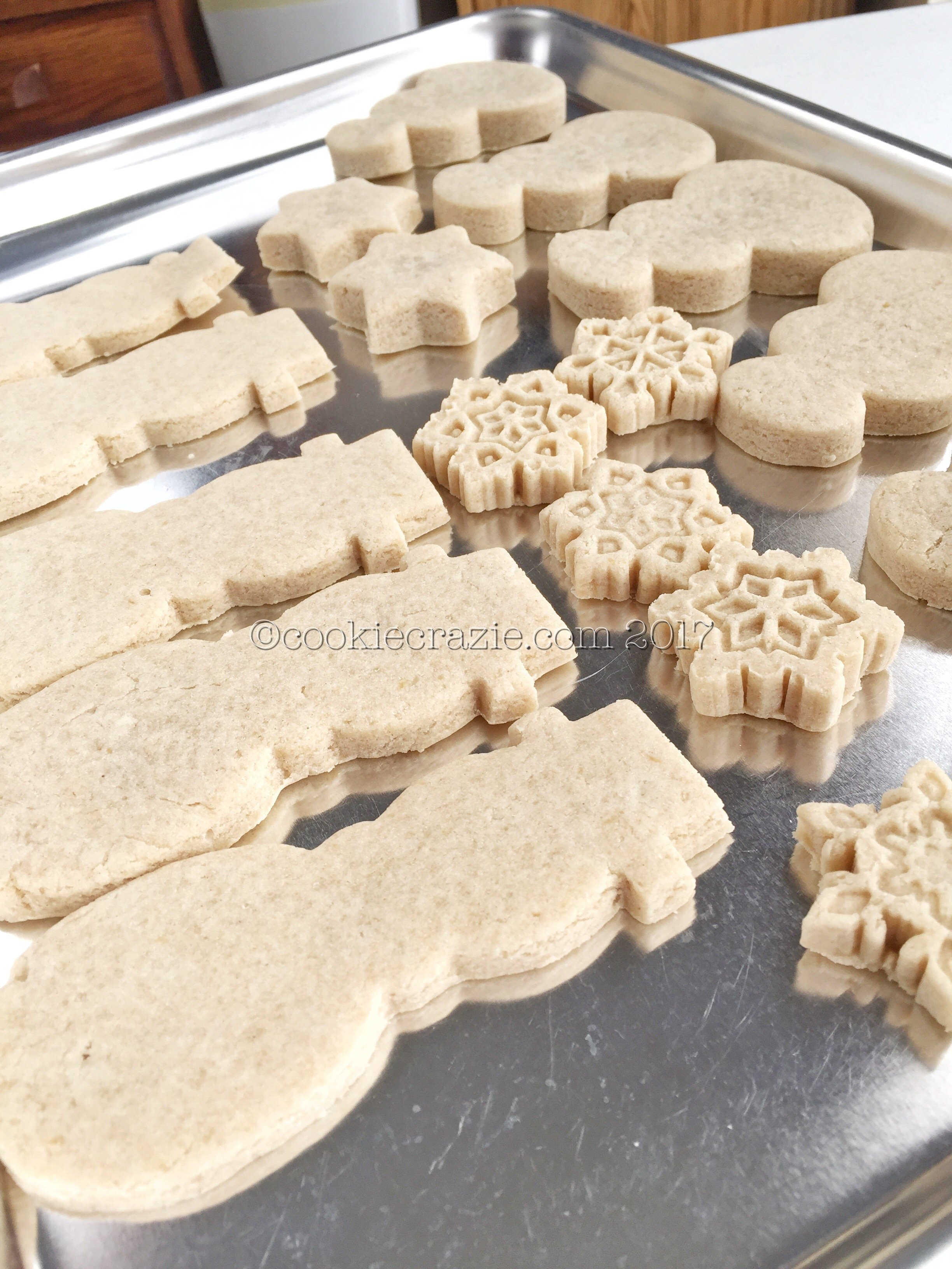 """This particular batch was made with coconut oil. The tops of these cookies are kind of splotchy and not as pretty as those made with vegan """"butter"""". Plus, coconut oil will often add a coconut flavor to the recipe. That's not a problem for me since I love coconut, but it might be for someone else."""