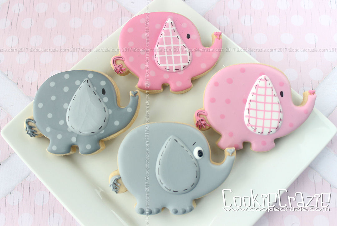 Elephant Cookie Cutter by BobbisCookiesCutters