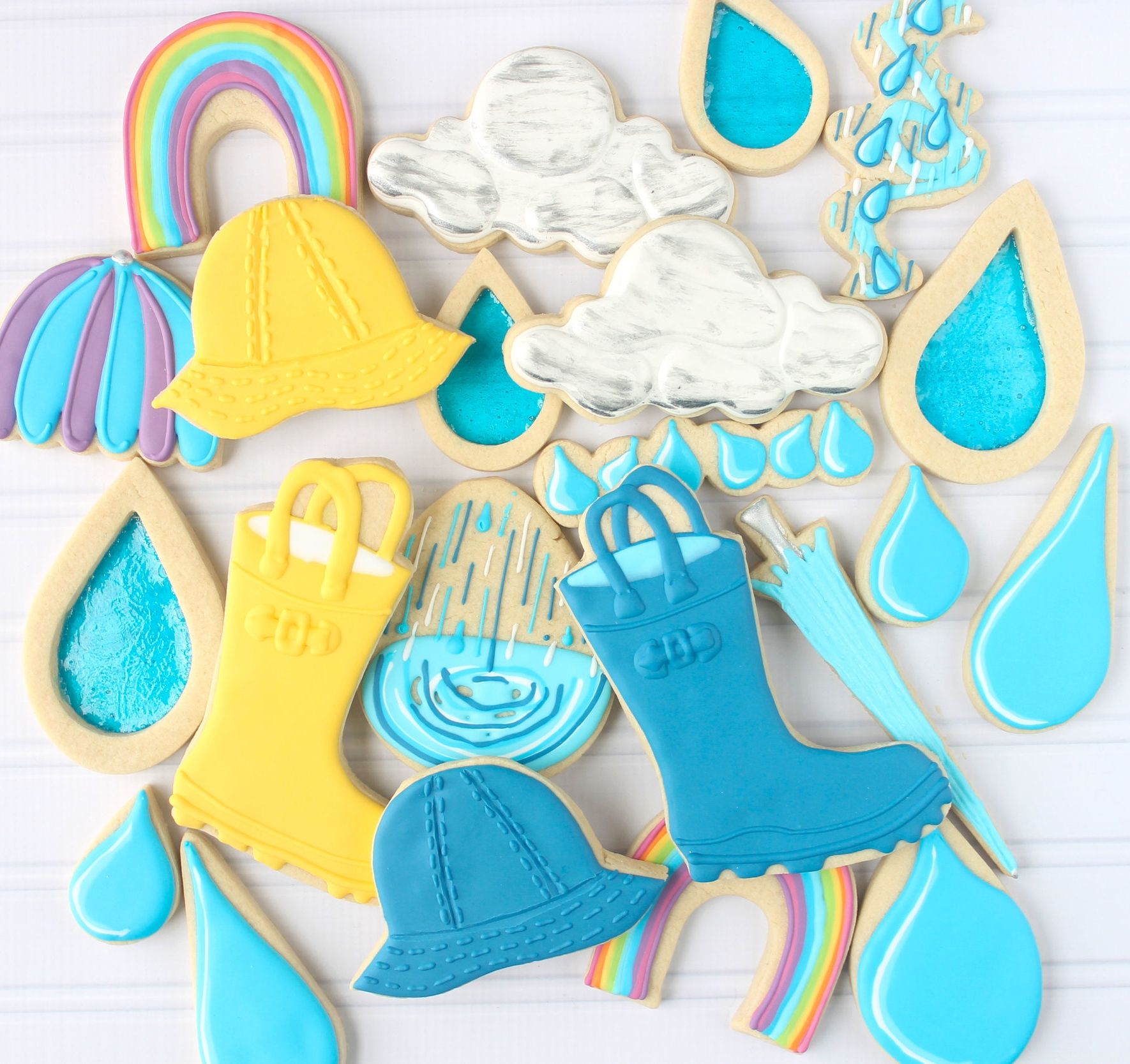 April Showers Decorated Cookie Collection