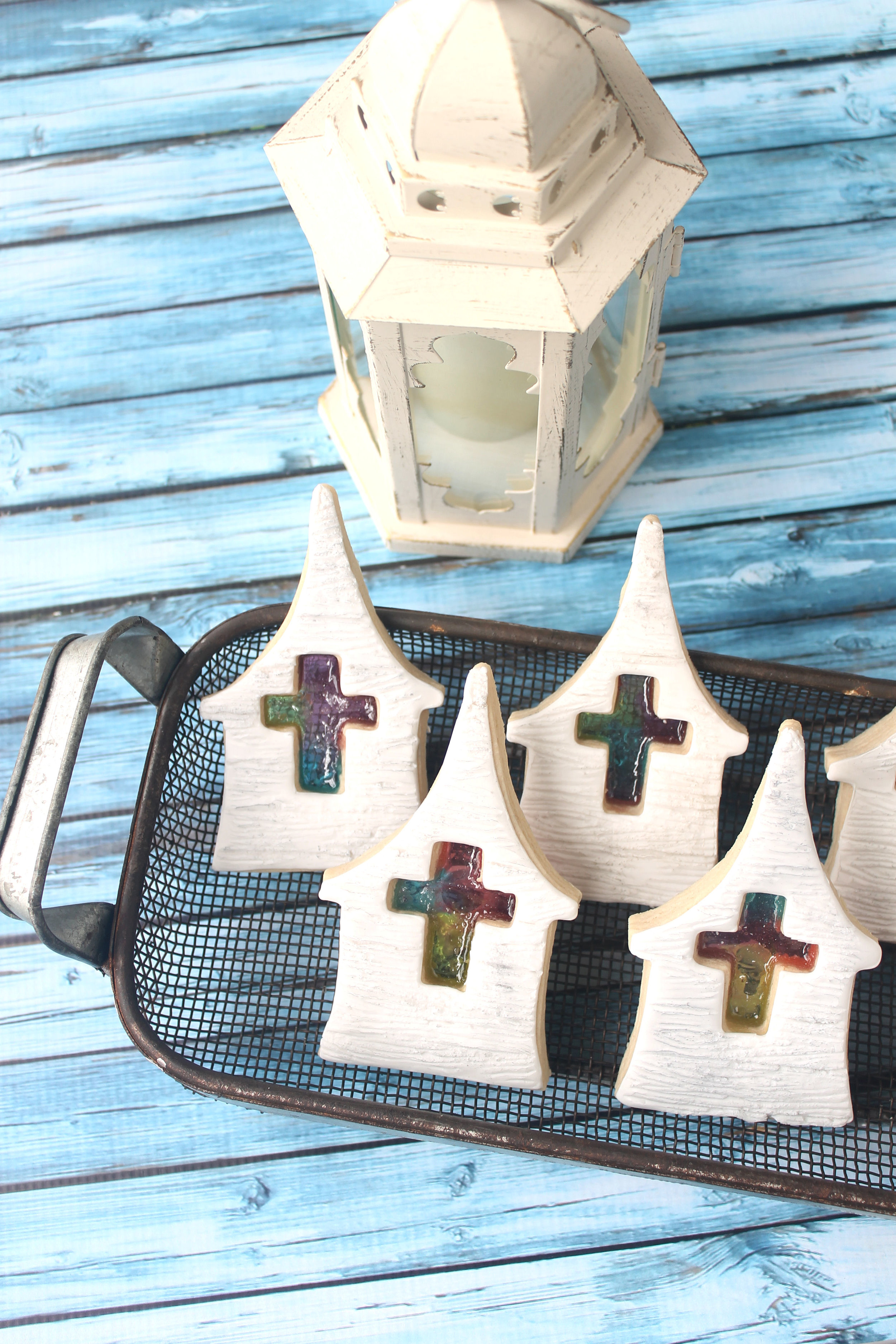 Stained Glass Church Decorated Cookie (Tutorial)