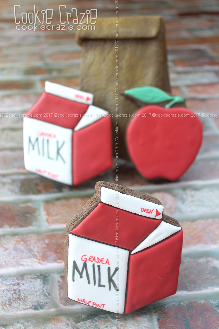 Half Pint Milk Carton Decorated Cookies (Tutorial)