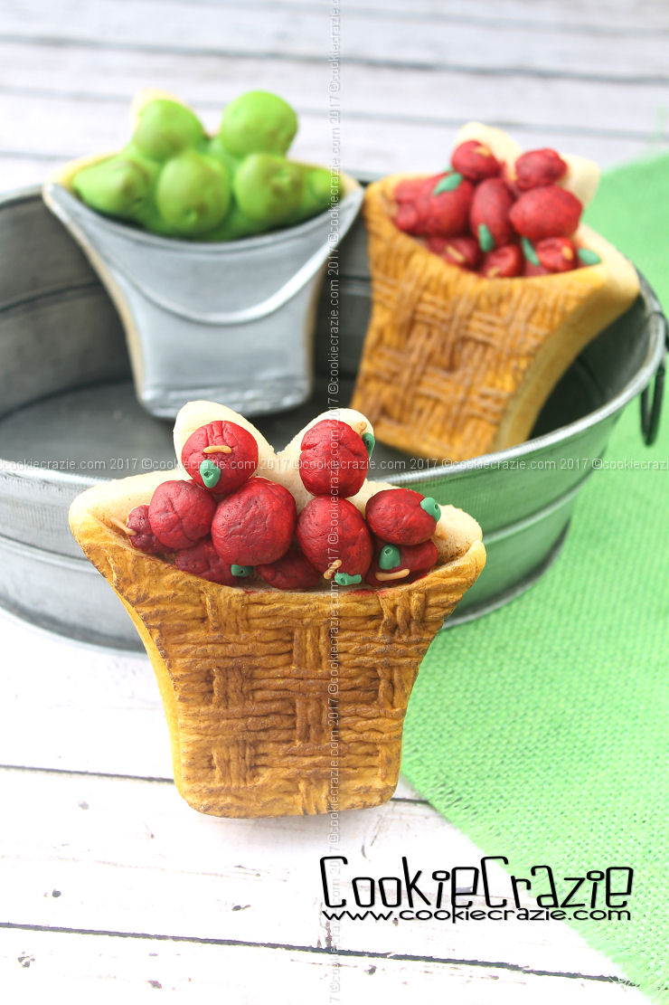 Apple Basket & Bucket Decorated Cookies (Tutorial)