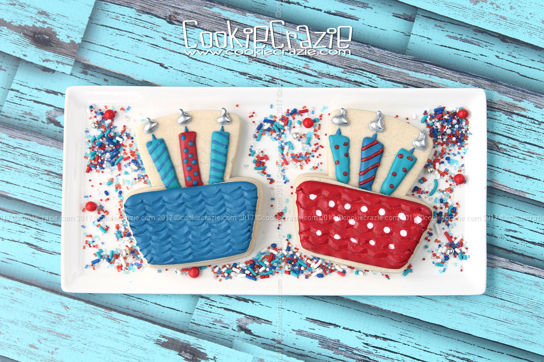 Birthday Cake with Candles Decorated Cookie (Tutorial)