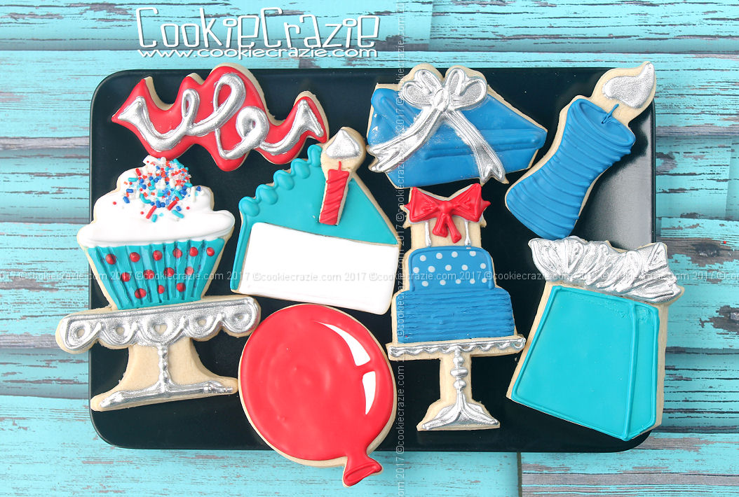 Cutters used:  confetti ,  cake slice ,  candle ,  gift bag ,  balloon ,  gift box with bow