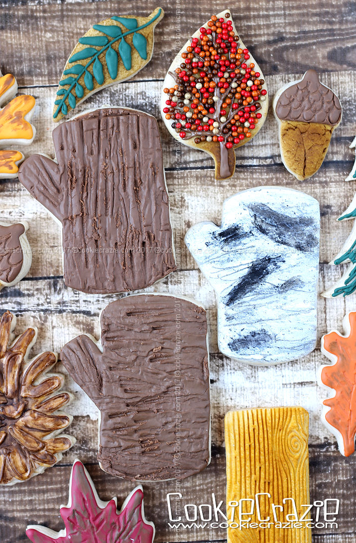 Tree Trunk Decorated Cookie (Tutorial)