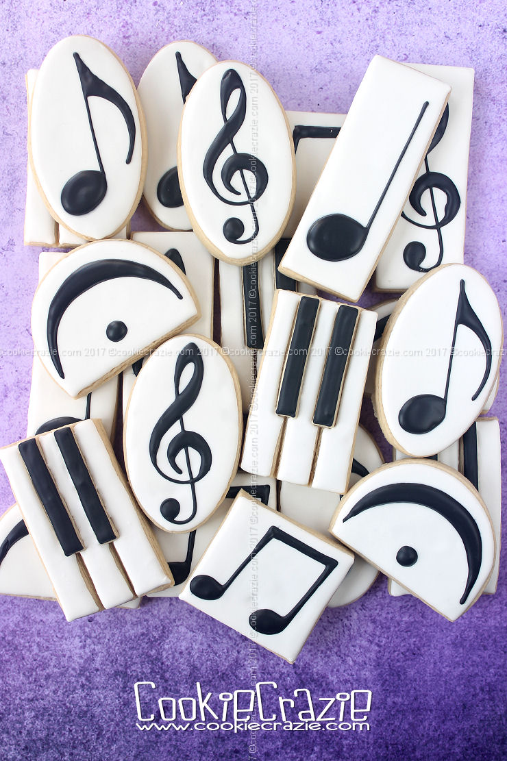 Music Symbol Decorated Cookie Collection
