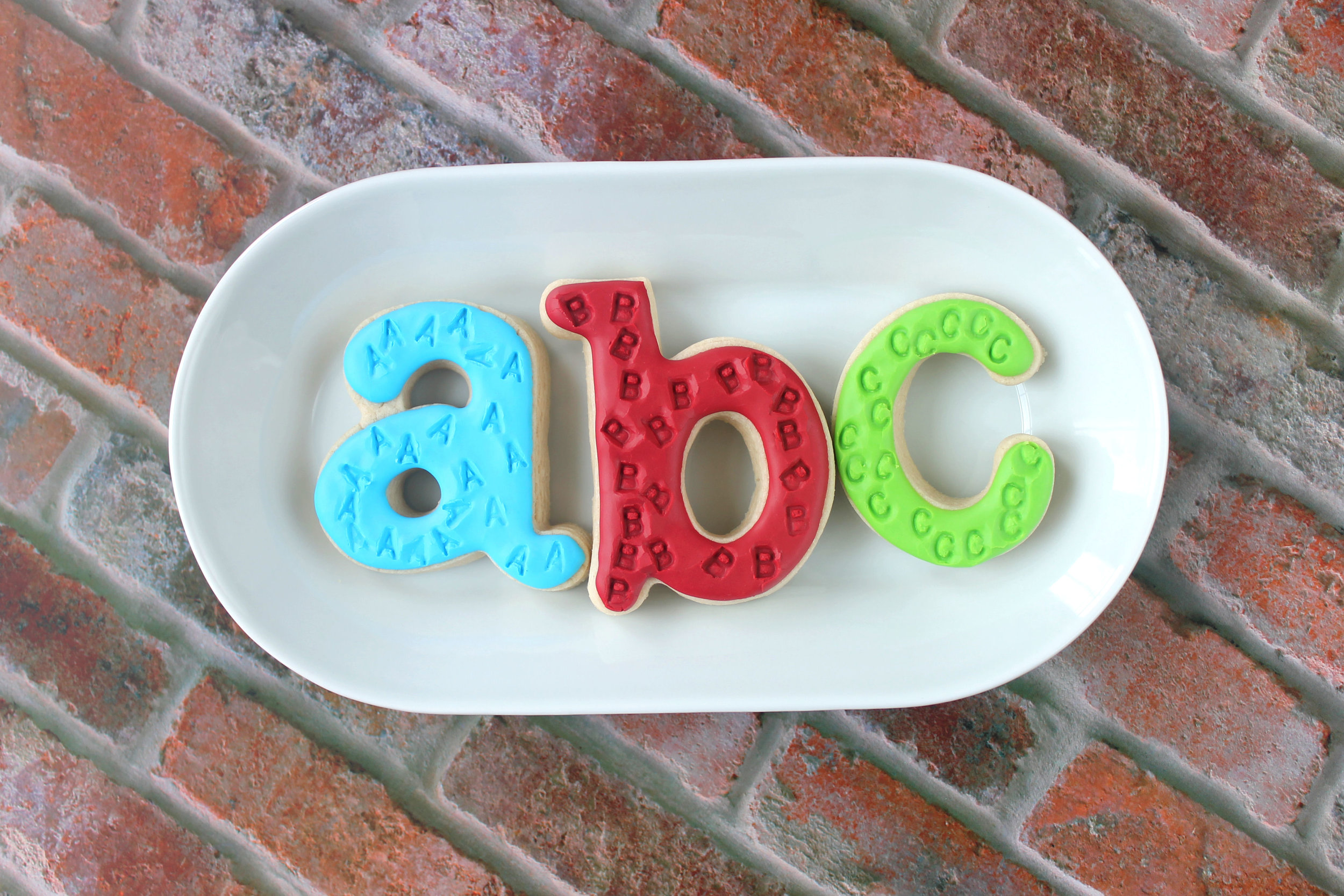 ABC Decorated Sugar Cookies YouTube Video