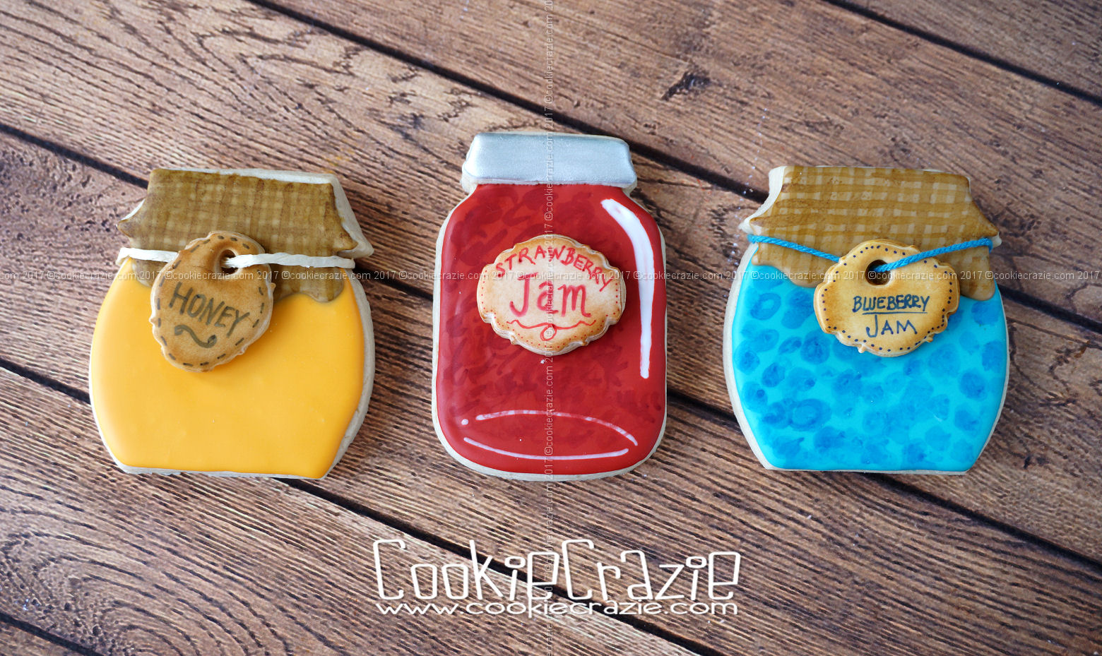 Honey Jar Decorated Cookie (Tutorial)