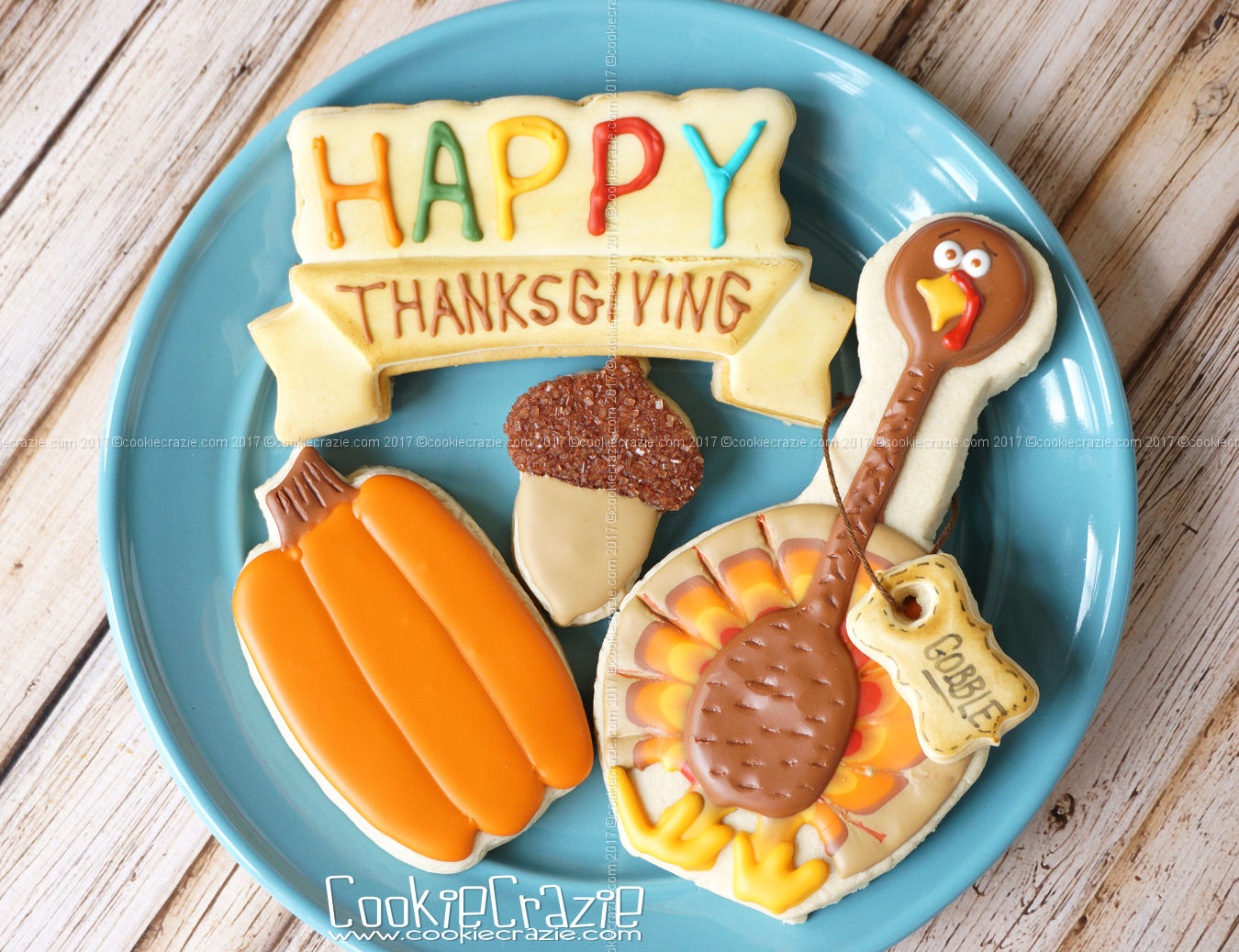 Happy Thanksgiving Banner Decorated Cookie YouTube Video found  HERE   Happy Plaque Cutter found  HERE .