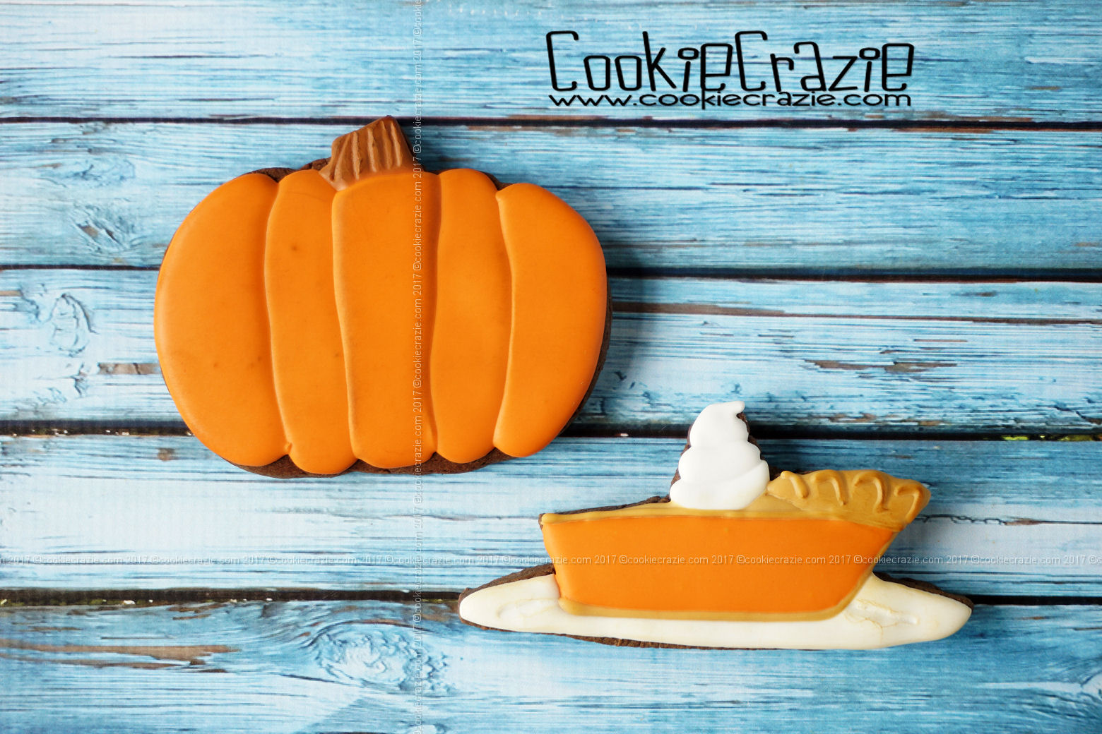 Pumpkin Pie Decorated Sugar Cookie YouTube Video  HERE