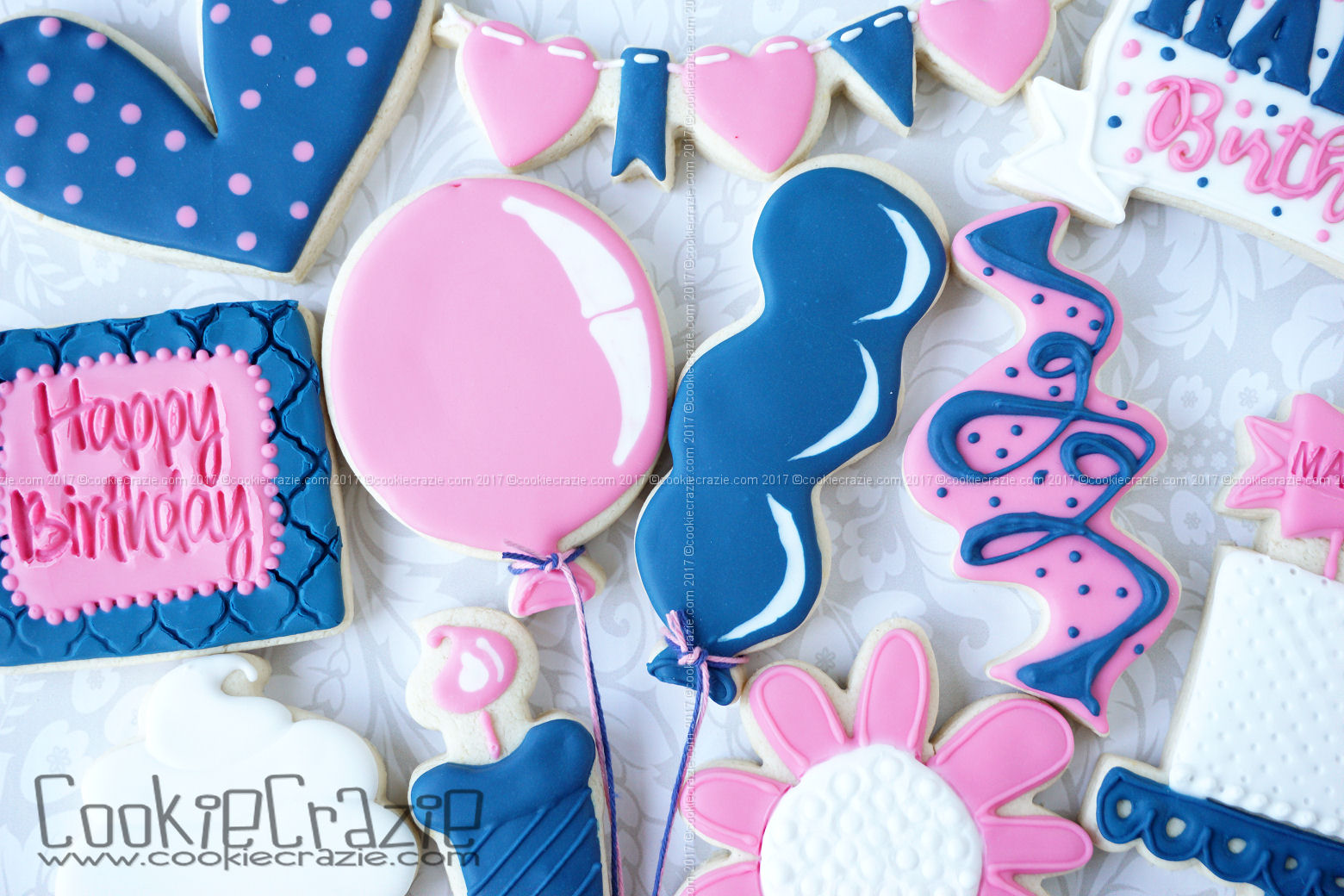 Balloon Decorated Cookie Tutorial Video on YouTube  HERE     Balloon Cutters found  HERE and  HERE