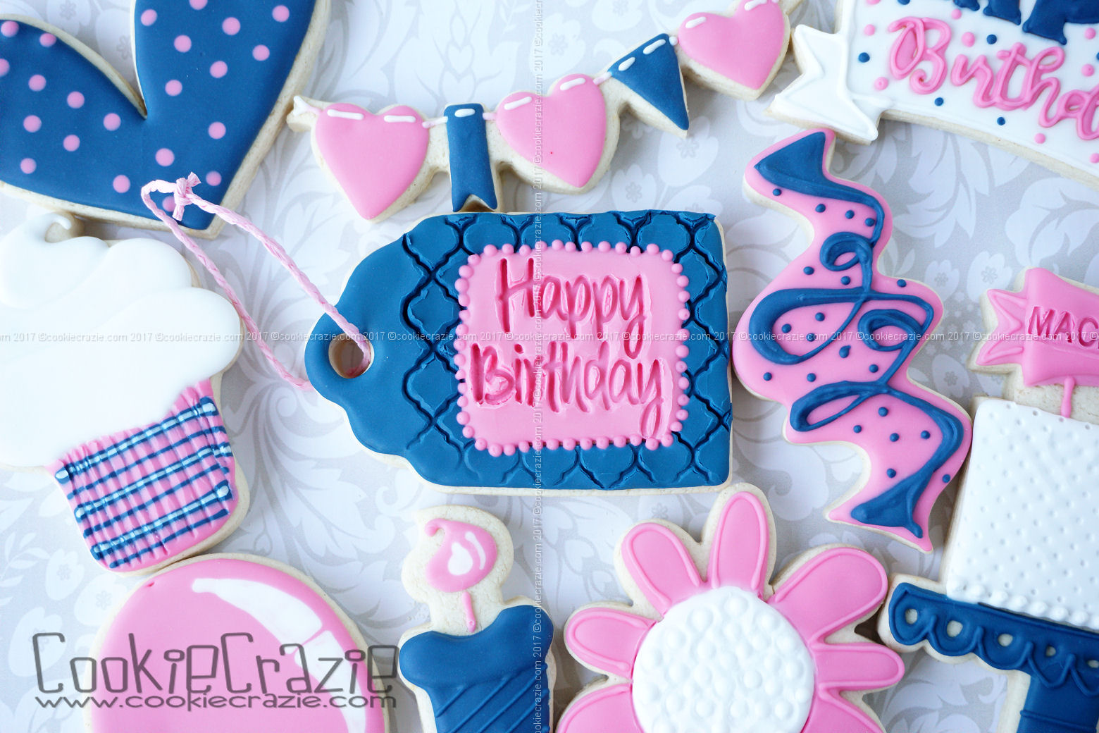 Happy Birthday Gift Tag Decorated Cookie YouTube Video  HERE  Happy Birthday Impression Tool found  HERE