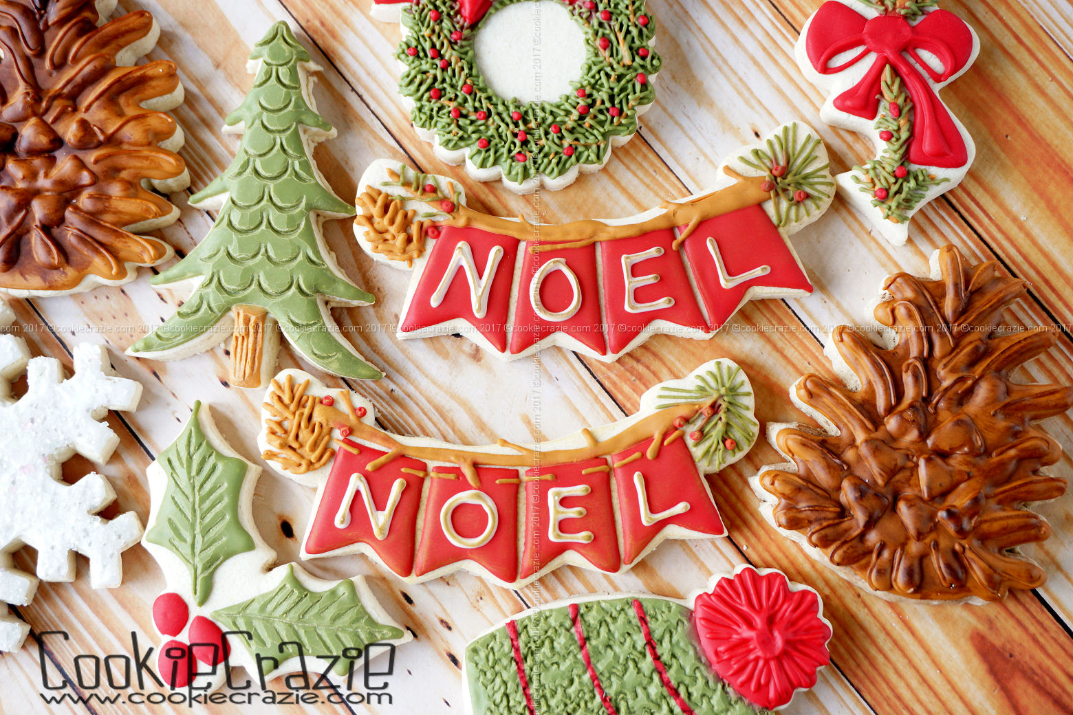 NOEL Christmas Banner Decorated Sugar Cookie YouTube video  HERE    Bunting Cutter found  HERE.