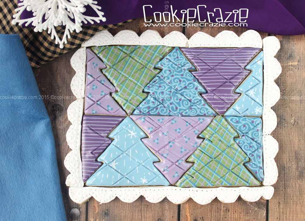Winter Tree Cookie Quilt (Tutorial)