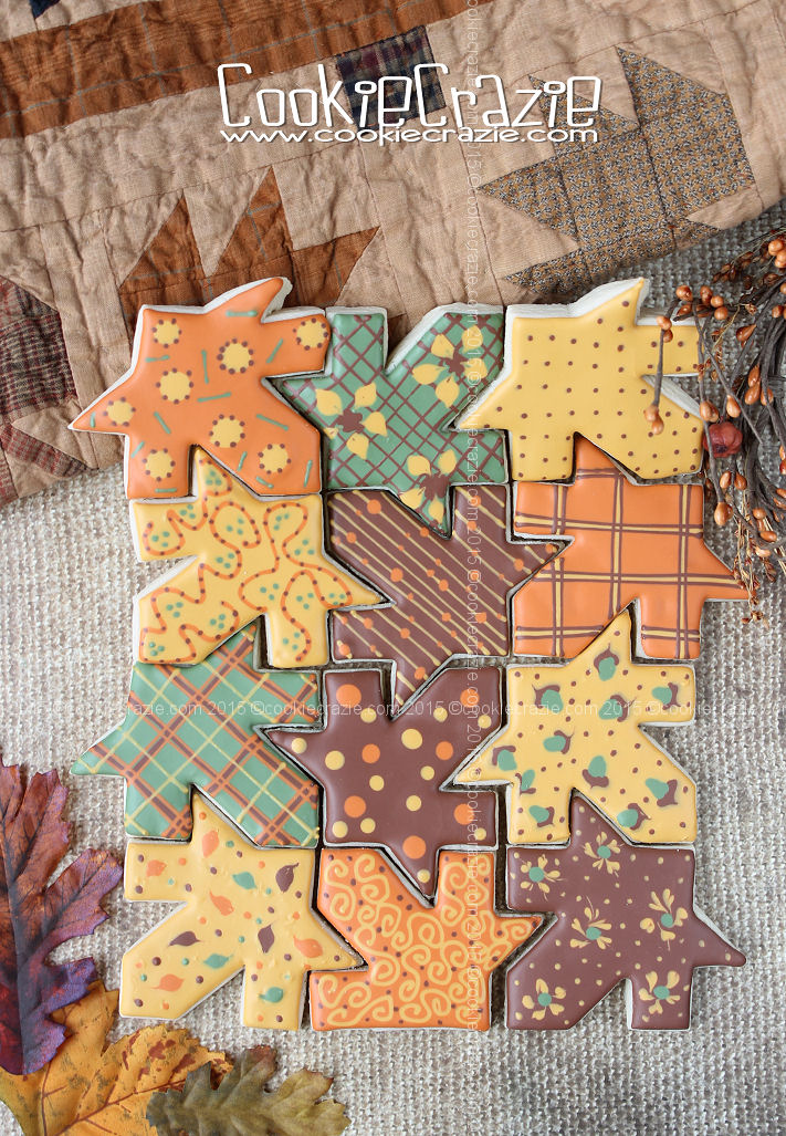 Autumn Leaf Cookie Quilt (Tutorial)