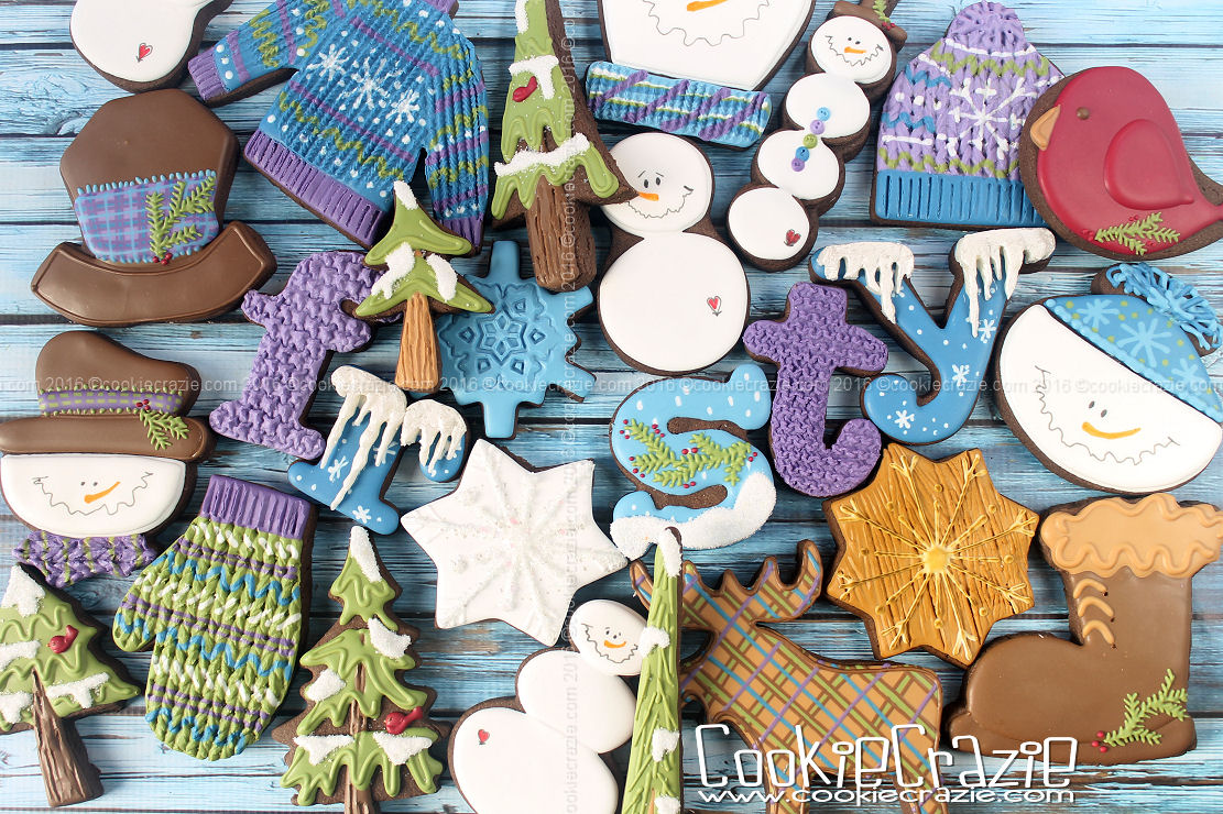 Frosty Winter Decorated Cookie Collection