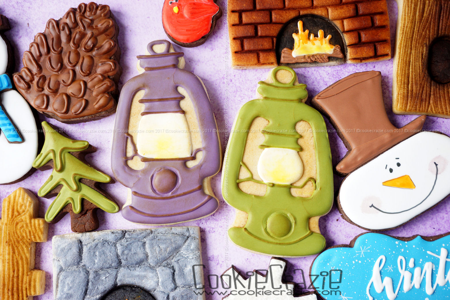 Lantern Decorated Cookies (Tutorial)