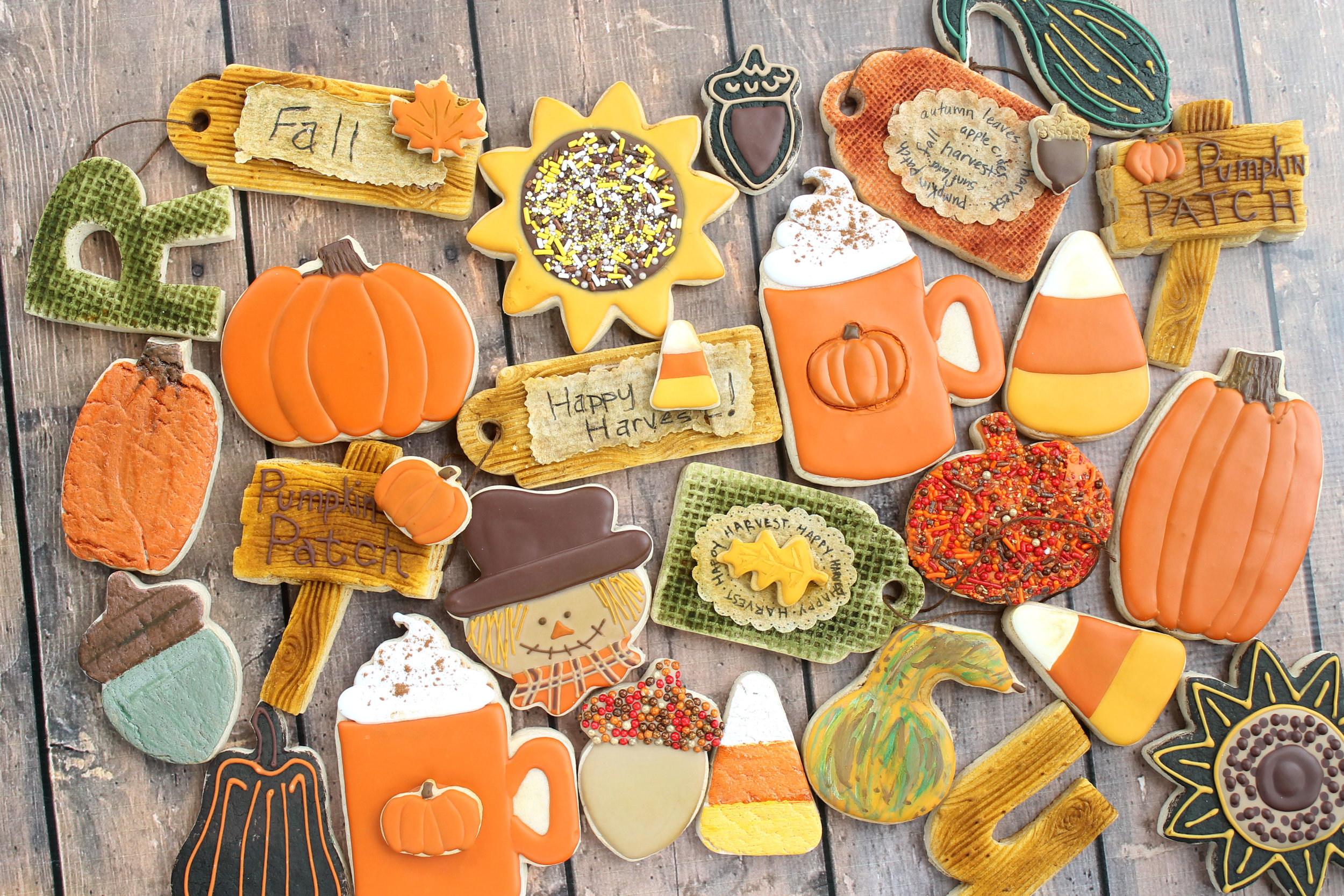 Happy Harvest Decorated Cookie Collection