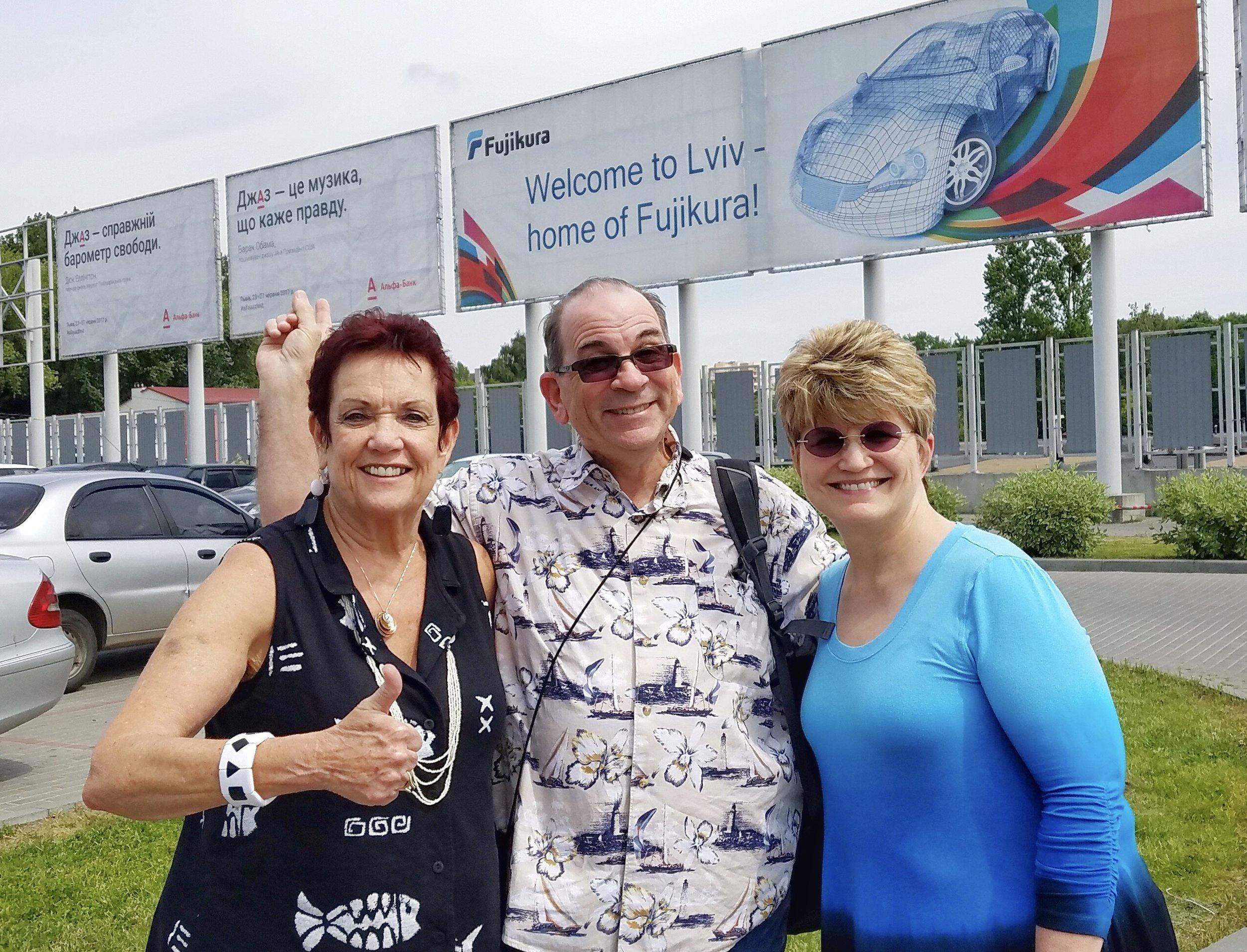 2017 Ukraine Trip Mission Team (Donna, Dave & Pam)