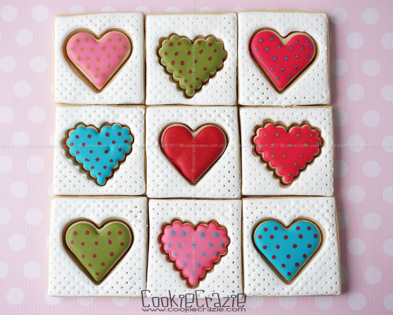 Heart Patchwork Quilt Decorated Cookie Collection blog post  HERE