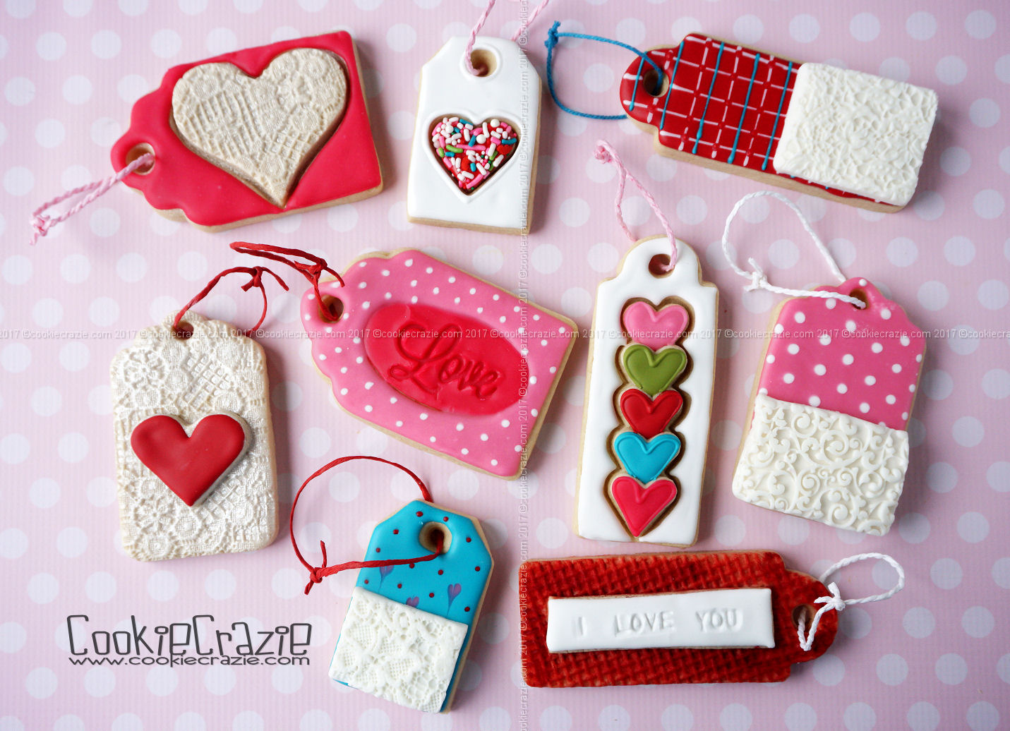 Valentines Gift Tag Decorated Cookies blog post  HERE