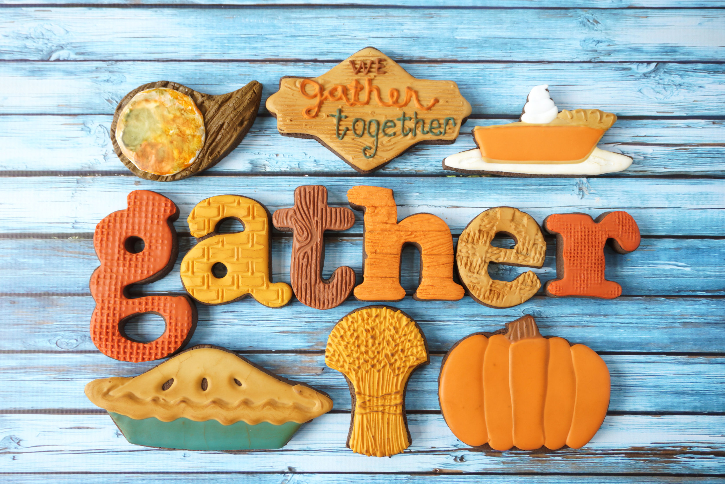 We Gather Together Thanksgiving Decorated Cookie Collection