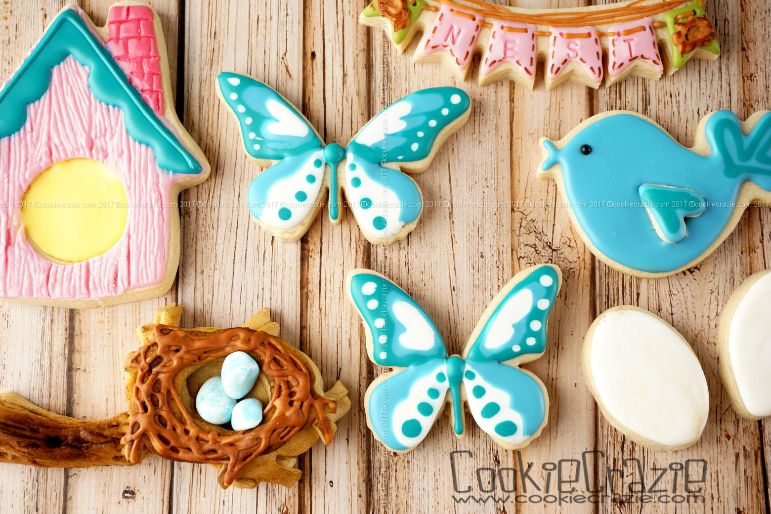 Butterfly Decorated Sugar Cookie YouTube video  HERE