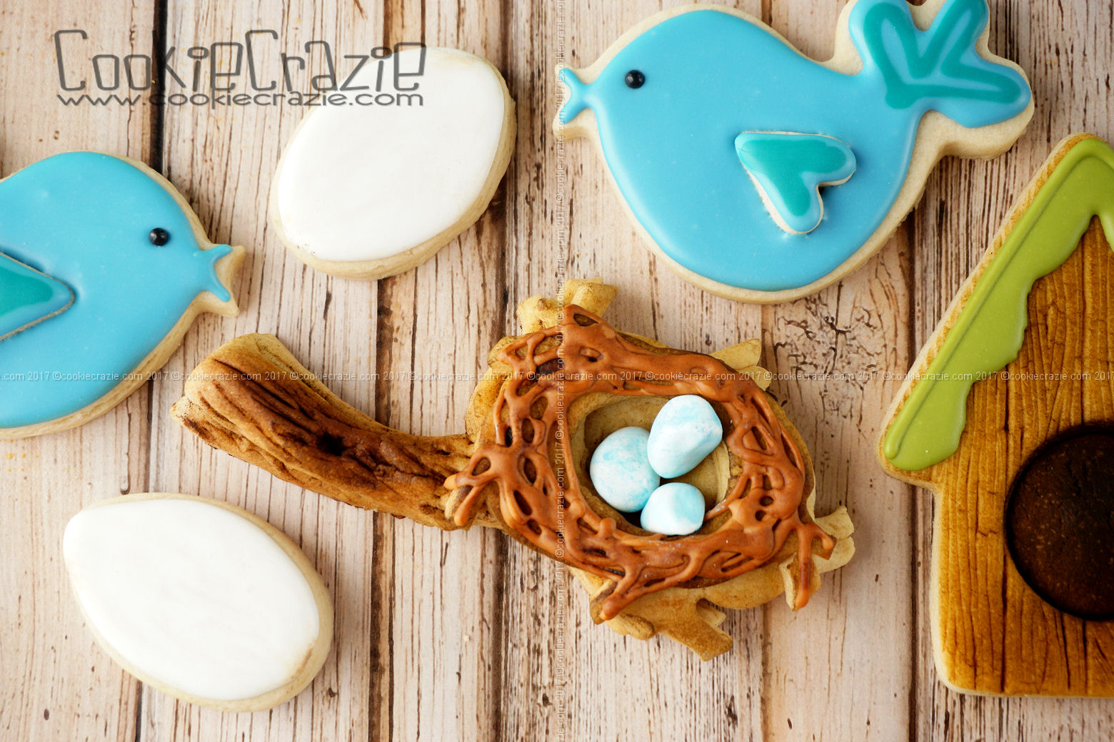 Bird's Nest on a Limb Decorated Sugar Cookie YouTube video  HERE