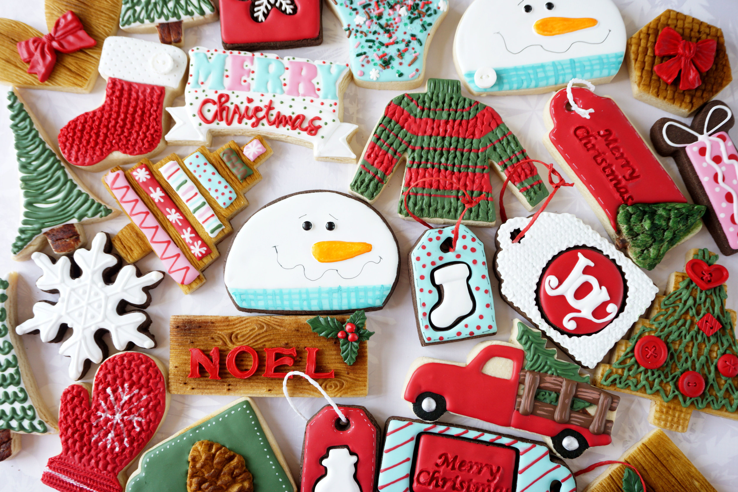 Merry & Bright Christmas Decorated Cookie Collection